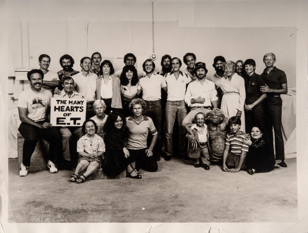 Con il cast di ET dopo la vittoria dell'Oscar